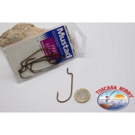 1 paquet de 5 pièces Mustad cod.39117BR, pas. 5/0, acier au carbone crochets FC.B86A