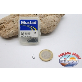 1 box 50pcs hooks Mustad cod.52002C, no. 14 FC.B90A