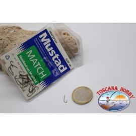 1 sachet, 25 pcs Mustad cod.52800BR, no. 16 white fish hooks FC.B91B