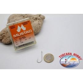 1 box 50pcs hooks Mustad cod.3138 n. 1/0, Sea Kirby hooks FC.B95A