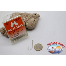 1 boîte de 50pcs hameçons Mustad cod.3138 n. 2/0, Mer Kirby crochets FC.B95B