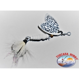 Cuchara Mepps Mariposa De Rotación De Medición 00 De Color Blanco.FC.R170