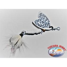 Teelöffel Mepps Schmetterling Rotierender Mess-00 Farbe White.FC.R170