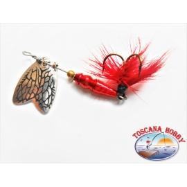 Cucchiaino Mepps a Farfalla Rotante Misura 00 Colore Red. FC.R172