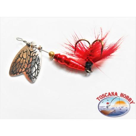 Cuchara Mepps Mariposa De Rotación De Medición 00 De Color Rojo. FC.R172
