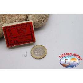 1 caja de 100 unidades Mustad-cod.3138 n.18, Superior Kirby ganchos FC.B95N