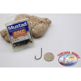 1 caja de 50 piezas Mustad-cod.92661 n.1/0, de agua Salada ganchos FC.B99A