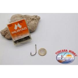 1 boîte de 50 pcs Mustad cod.92661 n.2/0, l'eau Salée, crochets FC.B99B