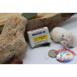 1 box 100 pcs Mustad cod.2316DT no.13, Round bent sea hooks FC.B33C