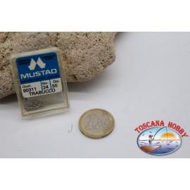 1 box 50 stk. angelhaken Mustad cod.90311 nr. 24 FC.B101H