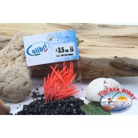 1 sachet, 25 pcs dovetail joints - 3.5 cm - red coral CB304
