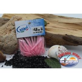 1 sachet de 25 pcs joints en queue d'aronde - 4,8 cm - rose CB306