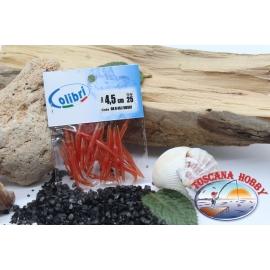 1 sachet, 25 pcs dovetail joints - 4,5 cm-red CB307