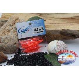 1 sachet, 25 pcs dovetail joints - 4,5 cm-red coral CB308