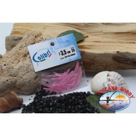 1 sachet, 25 pcs dovetail joints - 3.5 cm-pink pearl CB309