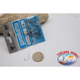 1 sachet, 25 pcs ami Gamakatsu, cod.440N, no.2, High carbon steel hooks FC.B110A