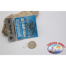 1 bolsita, 25 pcs ami Gamakatsu, el bacalao.440N, no.4, acero de Alto carbono ganchos FC.B110B