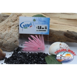 1 sachet, 25 pcs dovetail joints - 3.8 cm-pink CB310