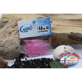 1 sachet, 25 pcs dovetail joints - 3.8 cm-pink pearl CB312