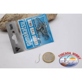 1 bustina 25 pz ami Gamakatsu, cod.12301, n.11, High Carbon steel hooks FC.B114B