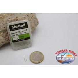 1 box 50 pcs Mustad, cod.90316, no.16, Crystal hooks FC.B118B