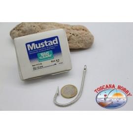 1 boîte de 10 pcs Mustad, cod.7731D, pas.8/0, Anti-corrosif crochets FC.B120A