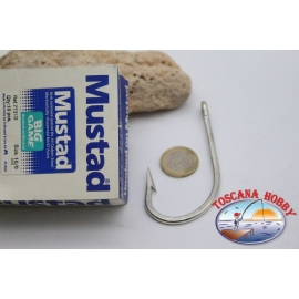 1 box 10 pcs Mustad, cod.7731D, no.10/0, Anti-corrosive hooks FC.B120B
