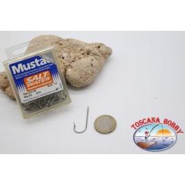 1 caja de 50 piezas Mustad, el bacalao.2315S no.10, agua Salada, ganchos, FC.B125A