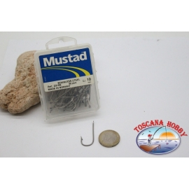 1 box 50 pcs Mustad, cod.2315S no.10,Salt water hooks,stainless steel FC.B125B