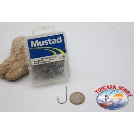 1 box 50 stk. angelhaken Mustad, cod.2315S n.10,Salt water hooks,stainless steel CF.B125B