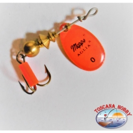 Cuchara Mepps Aglia Rotación De Tamaño 0 - Color Naranja.FC.R206