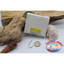 1 box 100 stk. angelhaken Mustad, cod.2339XD, nr. 6 Round bent hooks, FC.B130A