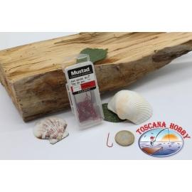1 box 50 stk, angelhaken Mustad, cod. 3275R, nr. 7, Abardeen hooks, FC.B136B