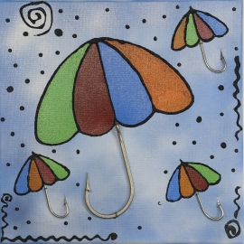 El marco paraguas tamaño de 40x40. QR13