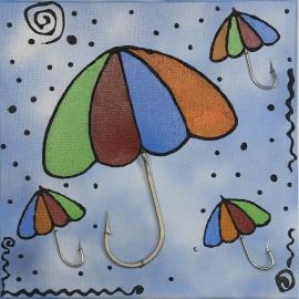 Quadro ombrelli dimensioni 40x40. QR13