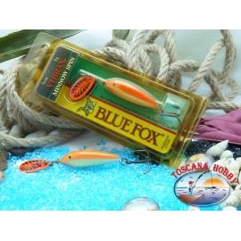 Blue Fox vibrax Rapala 5 g - 3/16 oz. Color: oro fluorescente de color rojo.FC.BR381
