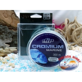 Monofilament DIP Cromium Marine 300 mt. - 0,265 mm – 8,75 kg.FC.F46
