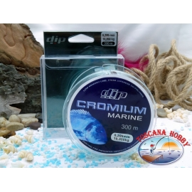 Monofilament DIP Cromium Marine à 300 mt. - 0,285 mm – 10,35 kg.FC.F47