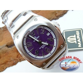 1 Watch MARGI 6520 all-stainless stell - dial-purple.LC.09