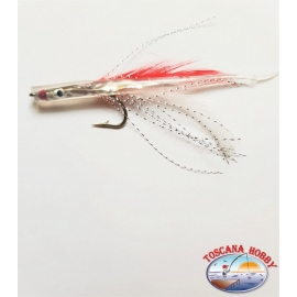 Bait hand-Crafted with Love steel, filaments and feathers 9 cm. about. FC.R250