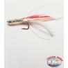 Esca Artigianale con Amo d'acciaio, filamenti e piumette da 9 cm. circa. FC.R250