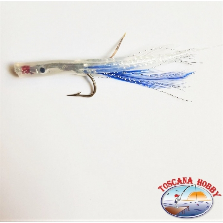 Bait hand-Crafted with Love steel, filaments and feathers 9 cm. about. FC.R255