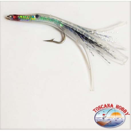 Bait hand-Crafted with Love, steel, holographic filaments by 7 cm. about. FC.R260