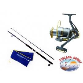 El barril de INMERSIÓN Dyna Big Fish. La medición de 2,10 + Carrete Singnol SWB 7000 .FC.ca35-m43