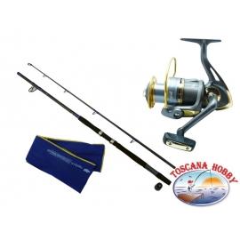 El barril de INMERSIÓN Dyna Big Fish. La medición de 2,40 m + Carrete Singnol SWB 7000.FC.ca36-m43