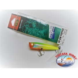 Artificial 3D Duel QW POPPER, 6.5 CM-7 GR Floating color:BTCL - FC.AR7