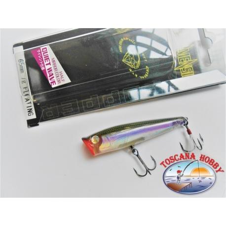 Artificielle 3D Duel QW POPPER, 6,5 CM-7 GR Flottant couleur:HMWS - FC.AR8