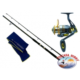 The barrel DIP Dyna Big Fish action 270 + Reel Singnol SSD 6011.FC.ca43-m42