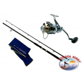 Canna DIP Dyna Big Fish - azione 270 gr + Mulinello ALCEDO MAG III 8008.FC.ca43-m90